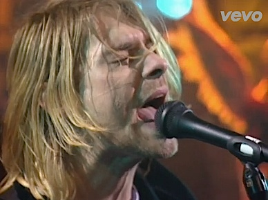 "Kurt Cobain sings ""Scentless Apprentice."""