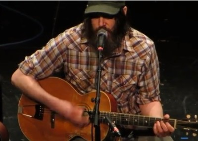 Jeff Mangum performing in January of this year (2013) in Houston.